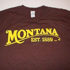 Men's Gildan Montana T shirt Top Large